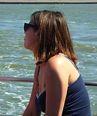 Girl on a boat (Eric_G73) Tags: sea girl cleavage boat sun tan skin
