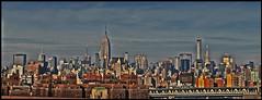 NYC panoramic view (Harry Szpilmann) Tags: nyc urban manhattan streetphotography usa newyork empirestatebuilding chryslerbuilding architecture