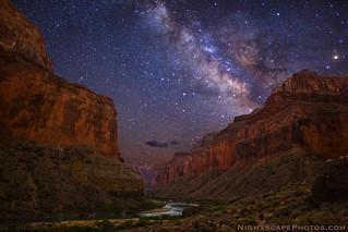 Grand Canyon stars from Nankoweap