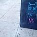 Cat Says No Sign