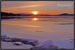 storsjn, stersund/Sweden (hippophoto) Tags: sunset sea sky sun love ice nature colors beautiful yellow canon landscape countryside spring amazing fishing view sweden wildlife awesome natur adventure sverige charming jmtland skyer vr friluftsliv landskap stersund vakkert canoneos550