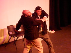 CC4K 11/05/13: Bob & Jim's French Theatre (Diamond Geyser) Tags: fight comedy comic southbank onstage comedian standup udderbelly comedyclub4kids sketchact bobandjim