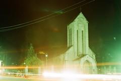 Sa Pa Church (A n h H u y) Tags: longexposure travel film church landscape sapa nikonfm nhth 50mm14ais uxiefiniti200
