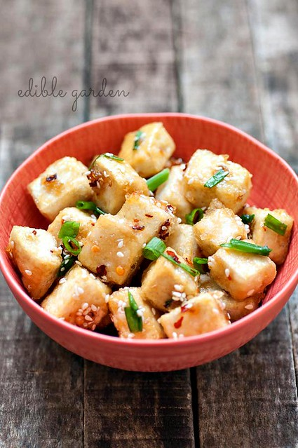 Sesame Tofu Recipe with Hot & Sweet Sauce - Step by Step