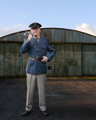 At ease, Airman (the underlord) Tags: composite photoshop uniform yorkshire wwii pipe hangar smoking blended layers reenactment pilot prop combined haworth seperate twoimages fakesmoke smokebrush usairman