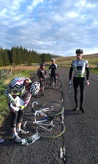 Rider into timekeeper... (Vortex RT) Tags: vortex cycling scotland vrt glasgow stirling tt dazzle endrick fintry balfron cyclingclub crowroad vortexrt vortexraceteam