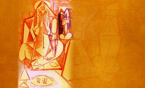 """Odaliscas (Mujeres de Argel) yuxtaposición y deconstrucción de Pablo Picasso (1955), síntesis de Roy Lichtenstein (1963). • <a style=""""font-size:0.8em;"""" href=""""http://www.flickr.com/photos/30735181@N00/8748000410/"""" target=""""_blank"""">View on Flickr</a>"""