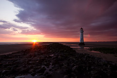 Very moody sunset at Perch Rock (Paul Farrell 2013) Tags: sunset lighthouse beach clouds moody wallasey wirral newbrighton perchrock