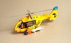 ADAC Rescue Helicopter (3) (Kit Bricksto) Tags: 2 rescue lego version medical helicopter minifig minifigs v2 eurocopter adac rotor ec135 minifigure moc minifigures cuusoo