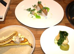Chef Lisa Allen dishes from the show (Tony Worrall Foto) Tags: show uk england food white celebrity cooking fun demo northwest north cook restaurants plate eaten lancashire event eat chef products produce taste dishes cooked celeb samples reviews northcote eatingout flavour asl chefs lancs foodphotography plated lisaallen celebritychefs nigelhaworthsfantasticfoodshow lancashirefoodfestival 2013tonyworrall