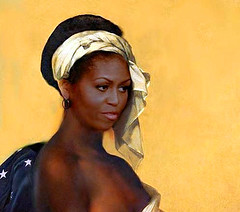 Only for Barack (vittorio vida) Tags: black beauty yellow women michelle barak obama slave