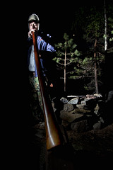 didgeridoo man (sami kuosmanen) Tags: light man nature night suomi finland play flash mies didgeridoo salama luonto y valo puumala soittaa