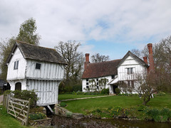 Exceedingly Wonky (Louise and Colin) Tags: old uk trees england house english heritage history farmhouse ancient britain farm eu attractive british herefordshire moat wonky nationaltrust halftimbered manorhouse gatehouse limewashed lowerbrockhampton moated louiseenglish damsonorchards