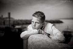 Portrait Alex (Renaud DELCUZE) Tags: portrait bw nb blond enfant nordique yeuxclairs