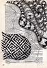 Flesh is Power (Jo in NZ) Tags: blackandwhite pattern drawing foundtext foundpoetry zentangle nzjo zendoodle