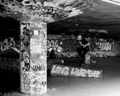 Skating Southbank (Chris Aldridge (Most Deadly)) Tags: london lumix graffiti skating southbank g5 skateboard lumix20mm17 lumixg5