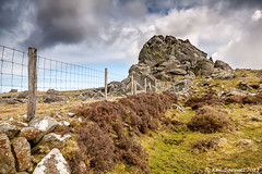 Garn Fawr Dinas Mt West View (K_D_B (One Eye On The Sky)) Tags: sky outcrop cloud wall canon fence rocks pembrokeshire heathland 30d fishguard sigma1020mm kdb garnfawr dinasmt