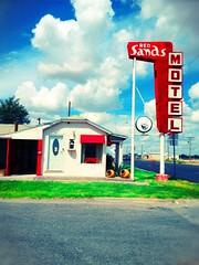 Red Sands Motel - Brownfield, TX (Lon_Donner) Tags: vintagemotelsigns