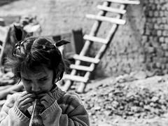 Foreign (retroSPecktive) Tags: street bw india blind olympus leh ladakh