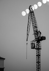 Moon Rise (Aaron Pack (50,000+ views Thank You x)) Tags: sky bw moon composite night crane