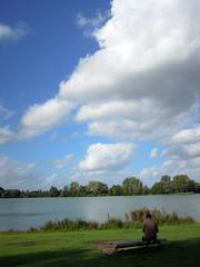 Villeneuve d'Ascq, lac du Hron (Ytierny) Tags: france nature vertical lac ciel nuage arbre nord flandre villeneuvedascq espacevert plandeau parcurbain basenautique mtropolelilloise ytierny