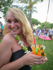 Cocktail Luau (Kim Cums) Tags: public beautiful smile outdoors hawaii pretty dress slut luau exhibitionist exhibitionism seethrough transparent ww collar slutty collared sheer minidress cocktaildress wickedweasel braless pantieless flickrsafe kimcums