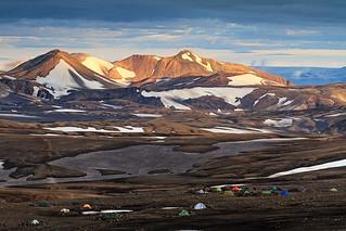 Hrafntinnusker campsite, Iceland