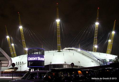 O2 Arena at Night