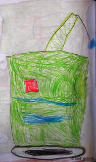 Crane drawn by my son