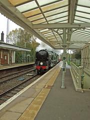 WC no.34046 'Braunton' (alts1985) Tags: blue black train bell 5 explorer main railway steam line wc bluebell the braunton edenbridge rytc 091113 no44932 no34046