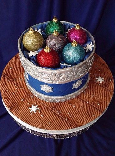 Ornament box cake 3