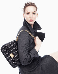 Dior ad with Jennifer Lawrence styled by Tiina Laakkonen (tiinal91) Tags: beautiful fashion model gorgeous actress accessories bags handbag graycoat jenniferlawrence diorad