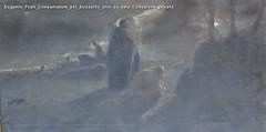 Eugenio Prati Consumatum est bozzetto olio su tela Collezione privata