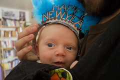 Day 365: Happy New Year! (quinn.anya) Tags: blue baby smile sam feathers newyear crown happynewyear sotd day365 525600minutes kotd40
