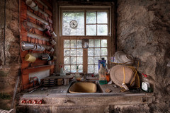 Kitchen stink (Sshhhh...) Tags: old abandoned window kitchen glass sink decay explorer neglected cottage dirty explore cups forgotten urbanexploration vacant plates dust explorers decayed ue uninvited urbex sshhhh
