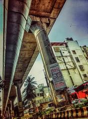 colors of everyday life(horizontal highway).... (findsaurabh) Tags: city bridge metro sony bangalore ulsoor nammametro xperial sonyxperial banglaloremetro