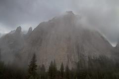 Granite Monster (markvcr) Tags: california mountain cathedral merced yosemite granite sierras mistfog monolity