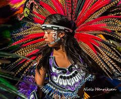 Concheros dancers in San Miguel (Niels Henriksen) Tags: colors mexico colours festivals sanmigueldeallende streetpeople nielshenriksen