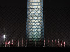 Washington Monument in scaffolding at night, viewed from the west (SchuminWeb) Tags: park november west monument metal stone night mall dc washington earthquake construction day scaffolding time ben nps stones district steel web over parks columbia east nighttime national repair obelisk damage restored scaffold service restoration daytime obelisks monuments washingtonmonument nationalparkservice georgewashington restoring overnight 2013 schumin schuminweb