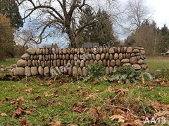 WM AA13, Alan Ash, Clawdd, dry laid stone construction, copyright 2014