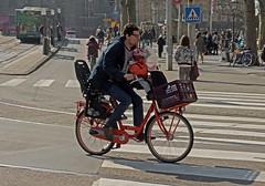 Amsterdam, Leidsestraat, Orangje Papfiets (Nik Morris (van Leiden)) Tags: amsterdam bike bicycles leidseplein fietsen fiets papafiets