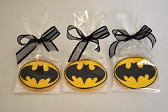 Batman cookie favors