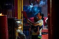 She Loves  God (antonio3077) Tags: people indonesia temple 50mm nikon religion pray jakarta hi glodok humaninterest nikkorlens nikond3200 vihara petak9 nikonafs50mmf18