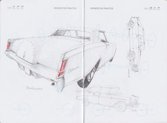 IDC Perspective Practice Page 24 (Flaf) Tags: auto chevrolet belair car pencil vintage münchen automobile drawing continental chevy lincoln florian crayon gt audi coupe siegen freie flaf afflerbach zeichnerei idrawcars
