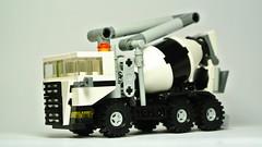 Beton Mixer Truck (5-wide) (hajdekr) Tags: car truck toy automobile lego mixer vehicle beton microscale 5wide legotoyline