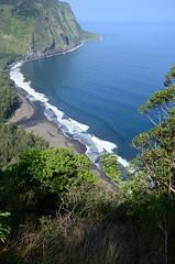 Three Views of the Beach at Waipio Valley (roddh) Tags: black beach sand nikon valley whales overlook breaching waipio roddh dsc1490 d7000