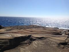 Lanai Lookout (erintheredmc) Tags: ocean blue winter vacation cliff holiday beach lost volcano hawaii islands big bed waves skies break escape pacific oahu erin rocky location lookout cliffs erosion hawaiian ash february filming lanai mccormack 5c tuff iphone 2015 deposits wanderlus
