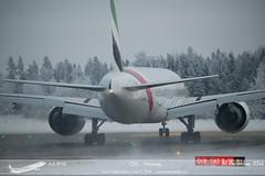 Emirates - A6-ENX - B777-300ER (Aviation & Maritime) Tags: norway emirates boeing osl gardermoen boeing777 b777 engm oslolufthavngardermoen osloairport boeing777300er b777300er osloairportgardermoen a6enx