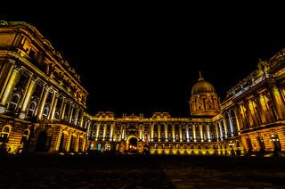 Buda's palace by night