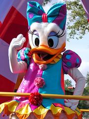 Daisy Duck (meeko_) Tags: world festival duck florida magic kingdom disney parade entertainment fantasy daisy characters waltdisneyworld walt themepark magickingdom frontierland daisyduck disneycharacters festivaloffantasyparade
